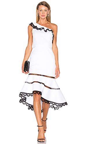 Платье christie Alexis. Цвет: белый