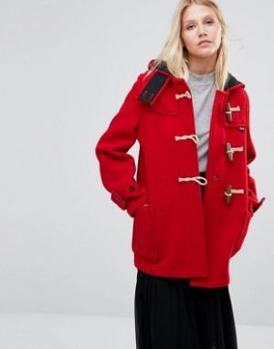 Gloverall Красное пальто Mid Monty. Цвет: красный