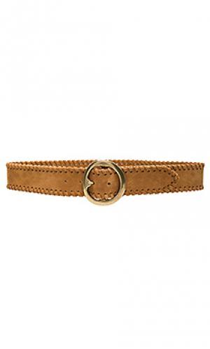 Поясной ремень whip stitch B-Low the Belt. Цвет: цвет загара