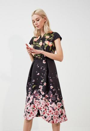 Платье Ted Baker London. Цвет: черный
