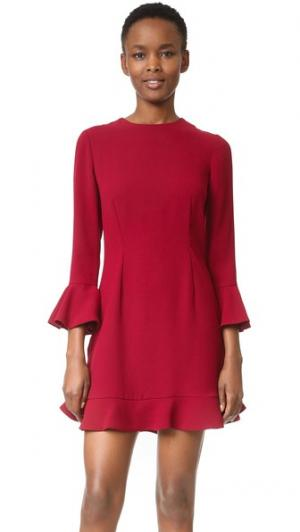 Платье с рукавом-колоколом Jill Stuart. Цвет: смородина