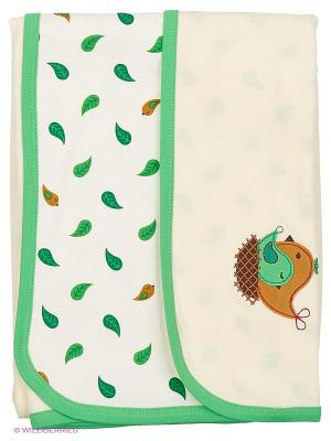 Пелёнки-покрывальца (комплект) HappyBabyDays. Цвет: зеленый, молочный