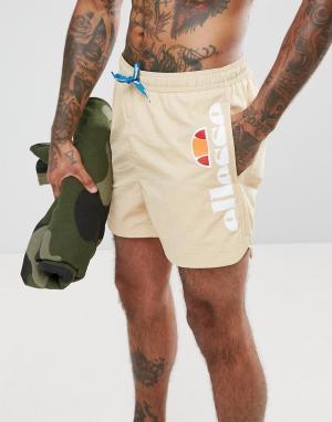 Ellesse Бежевые шорты для плавания с логотипом сбоку. Цвет: коричневый