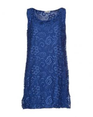 Короткое платье DANIELA FARGION. Цвет: синий