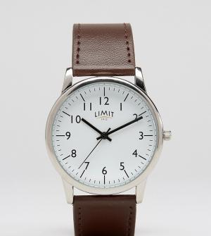 Limit Часы с коричневым ремешком эксклюзивно для ASOS. Цвет: коричневый