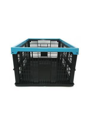 Ящик складной полипропиленовый 38л, 48x35x23см Ермак. Цвет: голубой