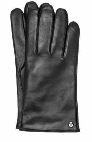 Кожаные перчатки с шерстяной подкладкой Roeckl. Цвет: черный