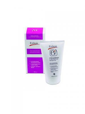 Крем-шампунь с экстрактом плаценты при выраженном выпадении волос для всех типов EVINAL. Цвет: молочный