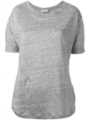 Базовая футболка Frame Denim. Цвет: серый