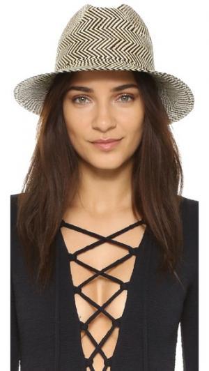 Шляпа в полоску Clasico Artesano. Цвет: черный/белый