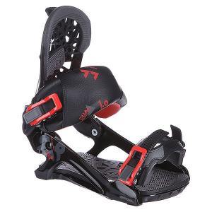 Крепления для сноуборда  Dual 1.0 Black Jack Apo. Цвет: черный,красный