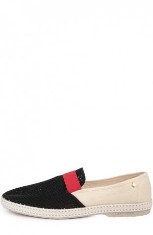 Текстильные эспадрильи Rivieras Leisure Shoes. Цвет: разноцветный