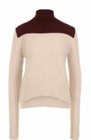 Укороченный свитер фактурной вязки Marni. Цвет: бежевый