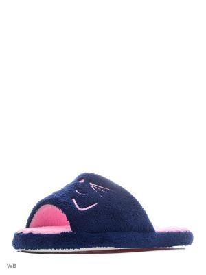 Тапочки Modis. Цвет: темно-синий, розовый