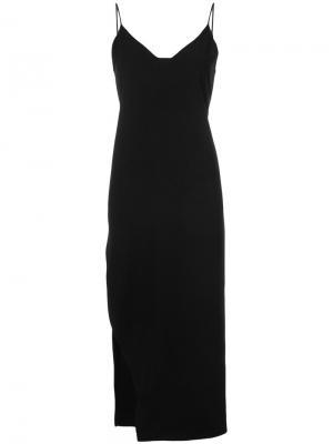 Slit slip dress Organic By John Patrick. Цвет: чёрный