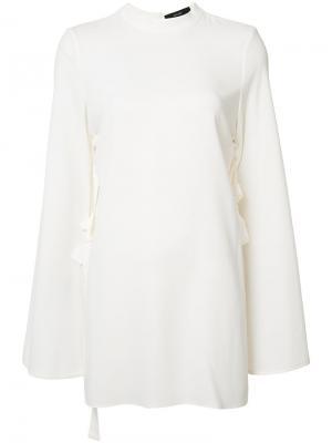 Блузка с расклешенными рукавами Ellery. Цвет: белый