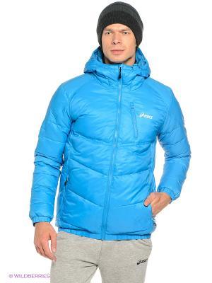Пуховик Down Puffer Jacket ASICS. Цвет: голубой
