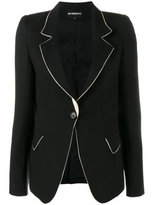 Пиджак с контрастной окантовкой Ann Demeulemeester. Цвет: чёрный