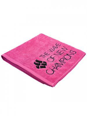 Полотенце Mad Wave. Цвет: черный, розовый