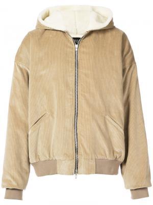 Куртка с капюшоном на молнии Fear Of God. Цвет: коричневый