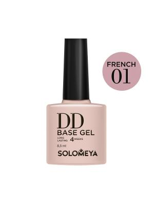 Суперэластичная DD-база цвет French 01 /DD BASE GEL  на основе нано-каучукового материала SOLOMEYA. Цвет: бежевый, розовый
