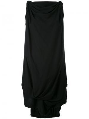 Платье шифт с асимметричным подолом Bernhard Willhelm. Цвет: чёрный