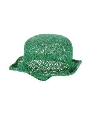 Головной убор SCHA. Цвет: зеленый