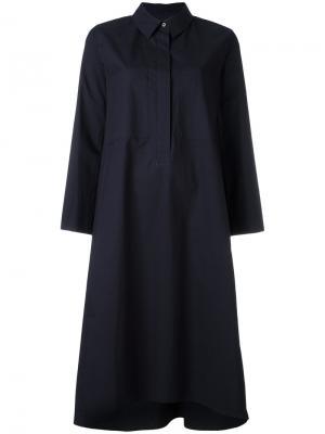 Платье-рубашка Odeeh. Цвет: синий