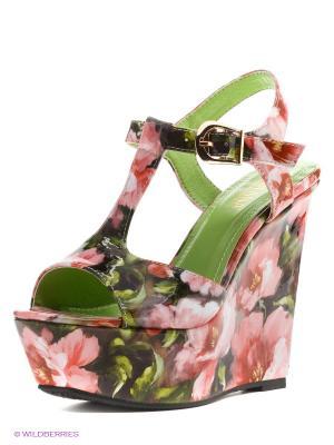 Босоножки MILANA. Цвет: розовый, светло-зеленый, коралловый