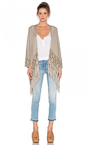 Кардиган с бахромой rowan 360 Sweater. Цвет: коричневый