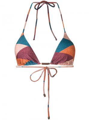 Geometric print bikini top Vix. Цвет: многоцветный