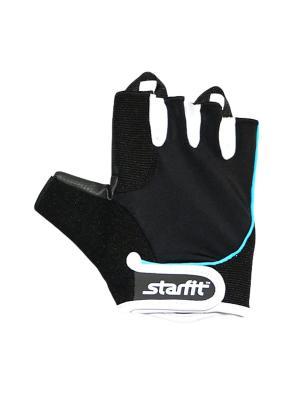 Перчатки для фитнеса STARFIT SU-111,. Цвет: черный, голубой, белый