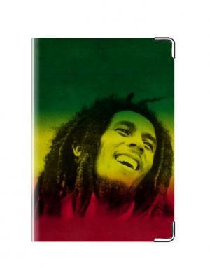 Обложка для паспорта Боб Марли Tina Bolotina. Цвет: зеленый, желтый, красный