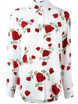 Рубашка с цветочным узором Equipment. Цвет: белый