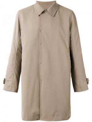Классическое пальто с воротником Undercover. Цвет: телесный