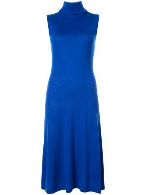 Платье с высокой горловиной Sally Lapointe. Цвет: синий