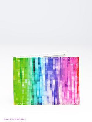 Обложка для студенческого билета Mitya Veselkov. Цвет: фуксия, зеленый, бирюзовый, фиолетовый