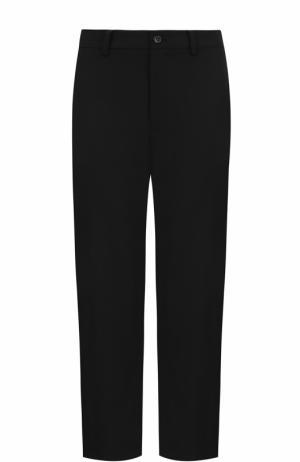 Укороченные брюки прямого кроя Yohji Yamamoto. Цвет: черный