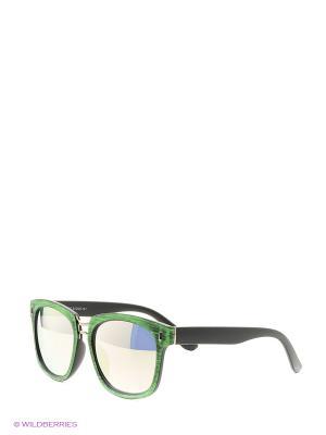 Солнцезащитные очки Vita pelle. Цвет: зеленый