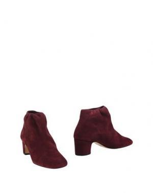 Полусапоги и высокие ботинки AVRIL GAU. Цвет: красно-коричневый
