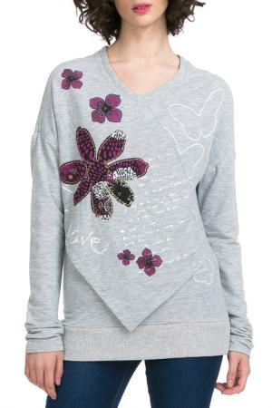 Блуза Desigual. Цвет: light grey
