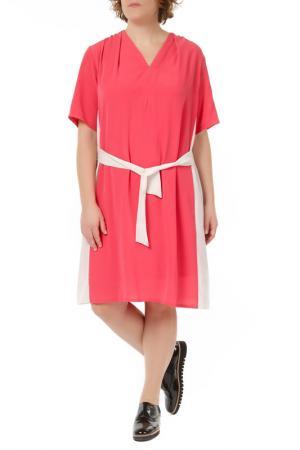 Платье Zedd Plus. Цвет: coral