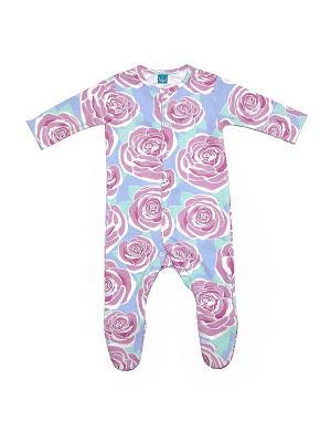 Комбинезон с розами The hip!. Цвет: голубой, розовый