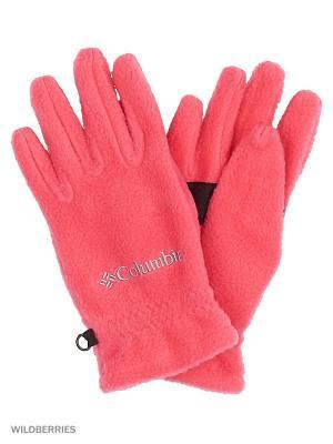 Перчатки Columbia. Цвет: розовый