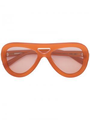 Солнцезащитные очки Charlotte Derek Lam. Цвет: жёлтый и оранжевый
