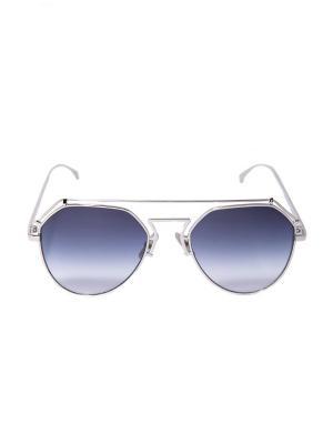 Солнцезащитные очки Mitya Veselkov. Цвет: серебристый