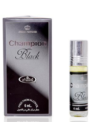 Арабские масляные духи Чёрный цвет чемпионов (Champion Black), 6 мл Al Rehab. Цвет: антрацитовый, белый, серый