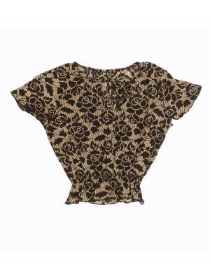 Блузка PETITE MARI. Цвет: бежевый, черный
