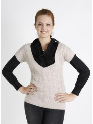 Пуловер женский lawiggi. Цвет: бежевый