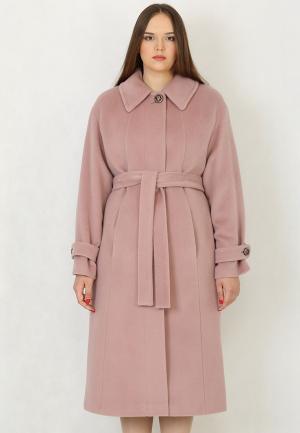 Пальто Trifo. Цвет: розовый